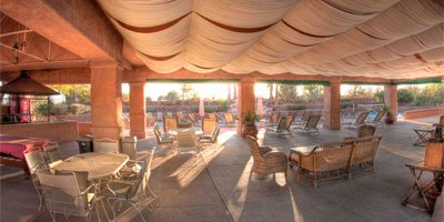 Elegant Poolside Ramada With Cooling System